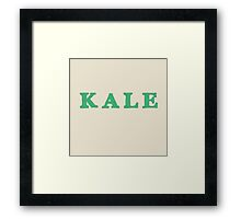 KALE Iconic Healthy trendy Food Framed Print