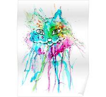 Watercolor Cat Poster