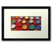 Mandala Sand Framed Print