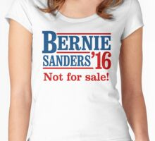 Bernie Sanders is not for sale Women's Fitted Scoop T-Shirt