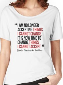 It is now time to change things I cannot accept Women's Relaxed Fit T-Shirt