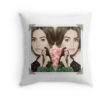 """Flirty Floral"" Lily Collins Merchandise Throw Pillow"