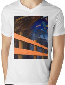 Fence Post Mens V-Neck T-Shirt