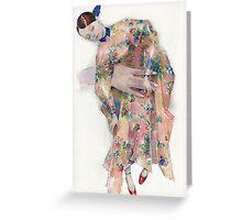Delpozo fashion illustration Greeting Card