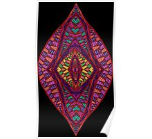 Psychedelic Abstract colourful work 95(partB) Poster