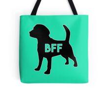 Dog BFF - Dog Best Friend Forever Dog BFF - Dog Best Friend Forever (black silhouette, white border, color background) Tote Bag