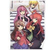 toradora girls characters Poster