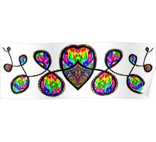 Psychedelic Abstract colourful work 109(part) Poster