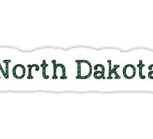 North Dakota Stripes Sticker