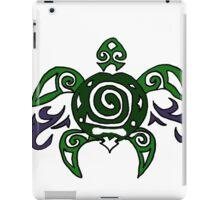 Fun Cool Turtle Tribal Art iPad Case/Skin