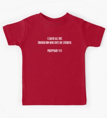 Philippians 4:13 Bible Quote T Shirt Kids Tee