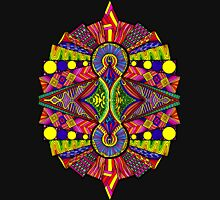 Psychedelic Abstract colourful work 118 Crest Unisex T-Shirt