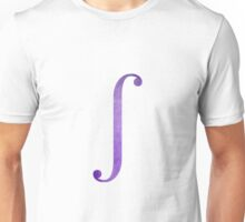 Purple Integral Symbol Unisex T-Shirt