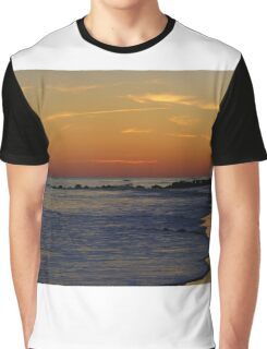 A Christmas Eve Sunset Graphic T-Shirt