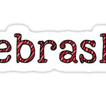 Nebraska Stripes Sticker