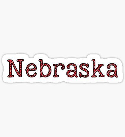 Nebraska Stripes Sticker
