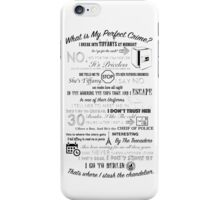 The Office: Dwight's Perfect Crime iPhone Case/Skin