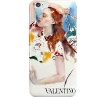 Valentino fashion illustration iPhone Case/Skin