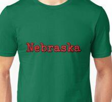 Nebraska Typo Unisex T-Shirt