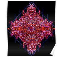 Psychedelic Abstract colourful work 144(partA) Poster