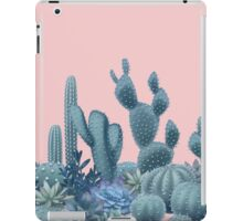 Serenity Cacti on Rose Quartz Background iPad Case/Skin