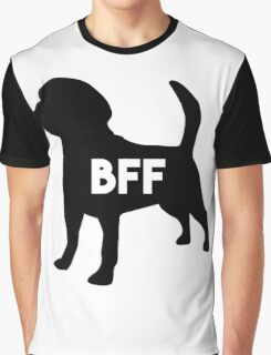 Dog BFF - Dog Best Friend Forever (black silhouette, white background) Graphic T-Shirt
