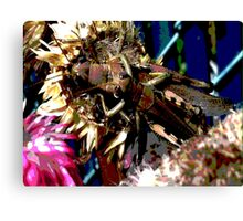 Spring Mother and Child Grasshopper  Canvas Print