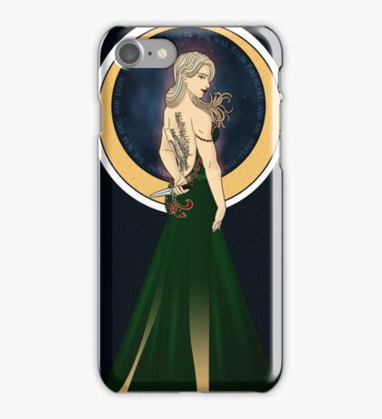 Art Nouveau Aelin Ashyver Galathynius - Throne of Glass iPhone Case/Skin