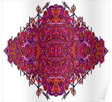 Psychedelic Abstract colourful work 144(partB) Poster