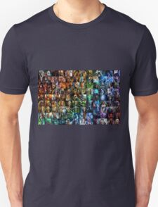 Dota 2 all heros showed in Color Order T-Shirt