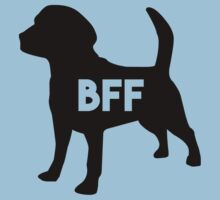 Pet BFF - Dog Best Friend Forever (black silhouette, color background) One Piece - Short Sleeve