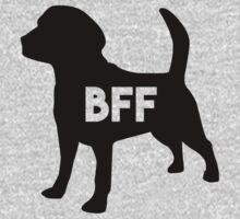 Pet BFF - Dog Best Friend Forever (black silhouette, color background) One Piece - Long Sleeve