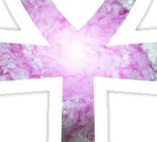 Whirlpool Galaxy Purple Green | Ankh Sticker
