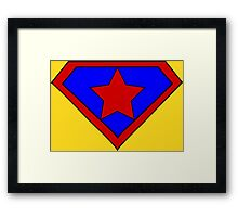 Hero, Heroine, Superhero, Super Star Framed Print