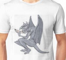 Gargoyle Eats a Hot Dog Unisex T-Shirt