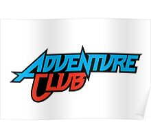 Adventure Club Red/Blue Poster