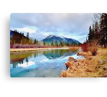 Policeman's Pond Canmore, Alberta, Canada Canvas Print