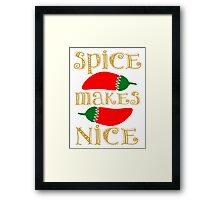 Spice Makes Nice Framed Print