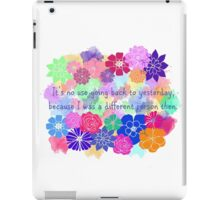 Alice in Wonderland Quote iPad Case/Skin