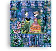 Catrin and Catrina Wedding Day - Day of the Dead Canvas Print