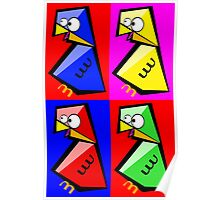 Birds Warhol like Poster