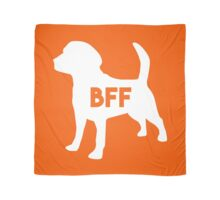 Pet BFF - Dog Best Friend Forever (white silhouette, color background) Scarf