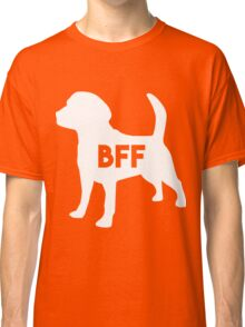 Pet BFF - Dog Best Friend Forever (white silhouette, color background) Classic T-Shirt
