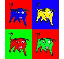 bull warhol like Photographic Print