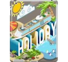 Cruise-Holiday-Vehicle-Isometric iPad Case/Skin