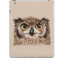 Disapproving Owl Disapproves iPad Case/Skin