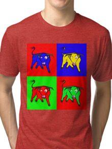 bull warhol like Tri-blend T-Shirt