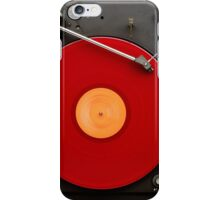 Music red vinyl iPhone Case/Skin