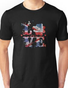 Union Jack Love Art Unisex T-Shirt