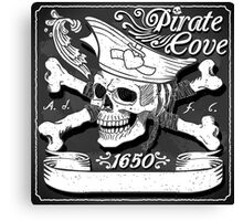 Jolly-Roger-Pirate-Flag-Blackboard Canvas Print